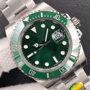New Top N Factory Watch V10 Обновление Версия 2836 3135 Механическое движение Керамическое кольцо 904L Сталь производства мужских дизайнерских часов