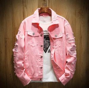 Veste de luxe pour hommes Designer Hommes Femmes Haute Qualité Trous de Haute Qualité Denim Veste Mens Cowboy Manteau Femmes Tops Black Red Jean Vestoles Taille M-5XL
