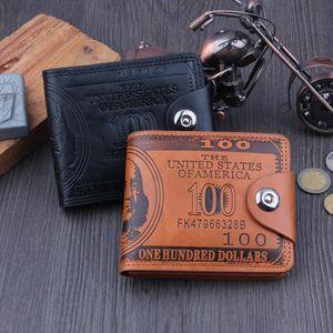 Men Wallets Soft Pu Leather Hasp Designer Money Clip with Coin Pocket Purse 2019 New Gift Card Hold Bag Black Dollar Color
