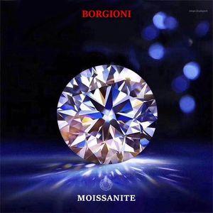 Round Brilliant Cut 1ct Carat 6.5mm F Color Moissanite Loose Stone VVS1 Excellent Cut Grade Test Positive Lab Diamond1