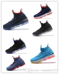 Nike Air Jordan Max Adidas Yeezy Boost 350 2018 Atacado qualidade superior Shoes Men Basquete 15 Authentic Sports Sneakers LB15 de basquetebol profissional 15s sapatos Trainers tam