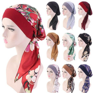 Perdita 1PC musulmana Turbante dei capelli cappello Hijab tumore della testa sciarpa Chemo Pirate Cap Headwear Bandana stampati Cappelli elastica regolabile