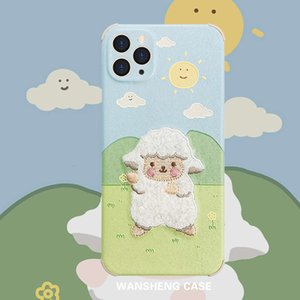 1dwPlay win embroidery sheep 12 11pro max mini X XS XR   SE mobile phone case vip 7p female 8plus silk personalized creative