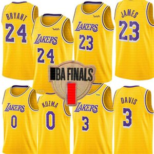 B R Y A N T LeBron 23 James Jersey Anthony 3 Davis Kyle 0 Kuzma Jersey LosAngelesLakers.Jerseys de basquete.