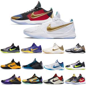 2020 Nike kobe bryant 5 Proto ZK5 KB5 5s Bruce Lee protro zapatillas de baloncesto Lakers oro púrpura 2K20 Caos Mamba zoom ZK 5 V para hombre zapatillas de tenis CD4991-700