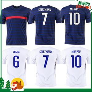 2020 MBappe Griezmann Pogba Giroud Kante Jerseys 2021 França Soccer Jersey Futebol Camisas Adult Men + Kid Kit