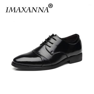Обувь платье Имаксанна Мужская Натуральная Кожа Мужчины Оксфорд Свадьба Черный Коричневый Высочайшее качество1