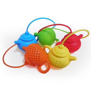 Silicone Tea Infuser Teapot Shape Reusable Tea Filter Diffuser Home Tea Maker Kitchen Accessories 7 Colors