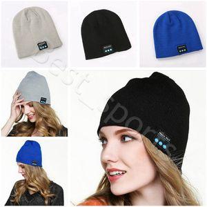 Bluetooth Headset Hat Music Beanie Cap 22*21.5cm Wireless Smart Music Winter Warm Knitted Caps CYZ2867 15Pcs
