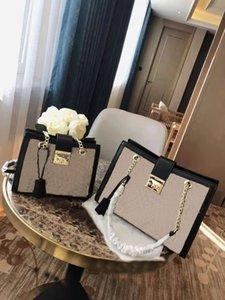 Cuir véritable 2020 nouveau tueur à la mode maker maine chaîne sacs à main une imprimée Sacs femme sacs sac à main à l'épaule TRWKH