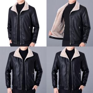 Anf new brandLeather designer PU Men's crown coat casual fashion slim leather coat