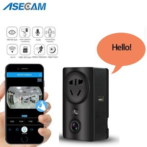 180 Degree Panoramic WIFI CCTV Home Security IP Camera 1080P USB Wall Socket Charger Adapter IR Night Vision Mini Camera