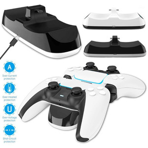 For PS5 DualSense 5 Wireless Double Controller ABS Plastic Joypad Charging Docking Station Holds 2 Controllers1