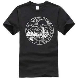 Cloud City The Great Outdoors I Hate People Männer-T-Shirt Sport T-Shirt Hoodie