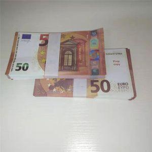 50 Euro Paper accessoires Simulation Euro accessoires Props Props Barre Atmosphère Money Fake Paper Money Jouets 056