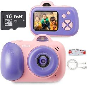 Beiens Crianças Câmera Digital Brinquedo Crianças 2400W Pixel ToDdler Brinquedos Camera 2inch IPS Tela Educacional Brinquedos 16G SD Card 1020