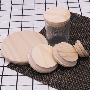 Wooden Mason Jar Lids 8 Sizes Environmental Reusable Wood Bottle Caps With Silicone Ring Glass Bottle Sealing Cover Dust Cover 277 N2