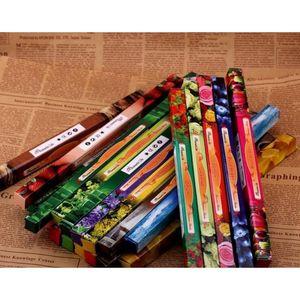Mix Farbe Mode Handgemachte Darshan Räucherstäbchen Rauchstange Weihrauch Weihrauch Sticks Multiple Duft 8 stücke Jllltk Sinabag