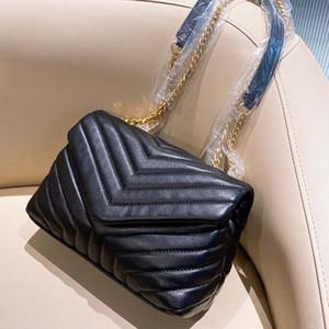 3A + 핫 LOULOU 가방 어깨 가방 핸드백 높은 품질 크로스 바디 백 정품 가죽 가방 지갑 도매 24cm