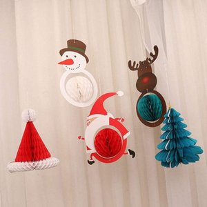 Christmas Deer Ceiling Paper Pendant Christmas Tree Paper Hanging Ornament Decoration Clearance Christmas Decoration w5Cy#