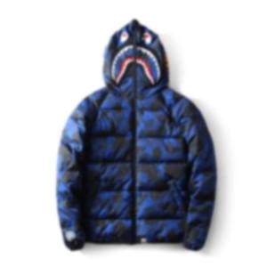 19FW Winter-Daunenjacke für Männer Camouflage Outdoor-Daunenmantel Warm Street Langarm Fashion Parkas mit Reißverschluss Homme Kleidung