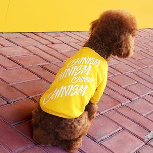 Pet clothing fashion Casual Round neck Cotton printing Dog clothes Teddy VIP Bichon Dog coat The New wholesale