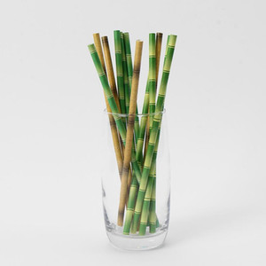 Biyobozunur Bambu Kağıt Straw Bambu Payet Çevre Dostu 25pcs Promosyon DHB2117 bir Lot Taraf Kullanımı Bambu Pipetler disaposable Straw