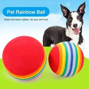 Diameter S M L Pet Toy Baby Dog Cat Toys Rainbow Colorful Play Balls for Pets Products Funny EVA Balls