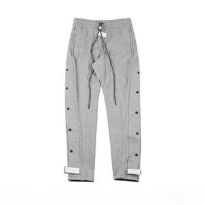 2020 Autumn Winter USA Fear Of God Graffiti Collaboration Basketball Buckle Trousers Casual Fog Sweatpants Men Women Jogger Pants