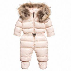 Winter-Baby-Mädchen-Mantel-Kleidung Overall starker warme Kapuze Overall Schnee trägt Kleinkind Baby Snowsuit Strampler 1Y6B #