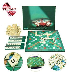 for Amazon FBA TEEMO Family Games Scrabble Crossword Spelling Board Game English Scrabble Bina Perkataan - Fulfilled by TEEMO SH