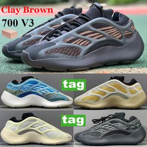 En Kaliteli 700 V3 Kil Kahverengi Aspir Yansıtıcı Koşu Ayakkabıları Karanlıkta Glow Azareth Alvah Azael Runner OG Basketbol Sneakers