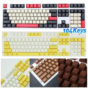 104 Keys Double Shot PBT Backlit Spacebar Keycaps Gaming Rainbow Keycaps Set for Cherry MX Mechanical Keyboard Key Cap Switches