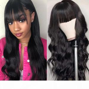 Бразильские свободные глубокие прямые волосы для волос с челками перуанские вьющиеся вьющиеся вьющиеся кружевные парики Индийские волосы Малайзийская волна тела
