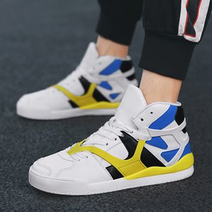 Top quality High-superior sports small white leisure outdoor high-decapaged shoes in racing space big size new shoe 124;