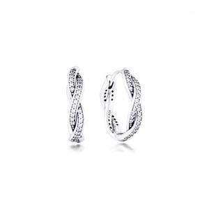 Earrings for women Twist of Fate Hoop Earring Pendientes Kolczyki Aretes de Mujer Brincos 925 Sterling Silver Jewelry Oorbellen1