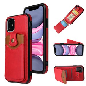 For iPhone 12 11 Pro MAX XR XS MAX 7 8 Leather Wallet Card slot Kickstand Luxury Protective phone case for Samsung Galaxy S20 note20 Ultra