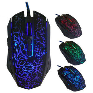 Professional Gaming Mouse Colorful Backlight Optical Wired Gaming Mouse for Computer Wired Mice 6 Buttons TXTB1