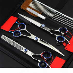 4 kit Professional left hand 7 '' pet dog grooming cutting hair scissors shears thinning barber tools hairdressing scissors set