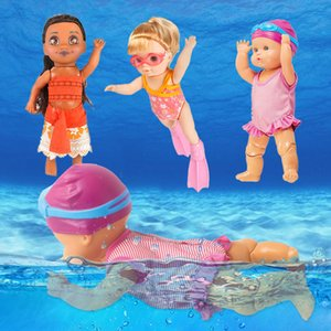 Small Baby Swimming Doll Toys Swim Water Pool Waterproof Smart Electric Movable Dolls Best Gift Bath Toy for Kid Girls Children LJ201031