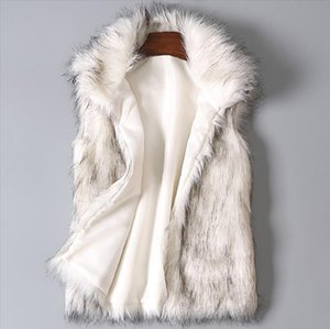 Autumn And Winter Womens New Hair Vest Imitation Fur Vest Stand Collar Artificial Fur Coat Thick Fashion Jacket Cold Zer