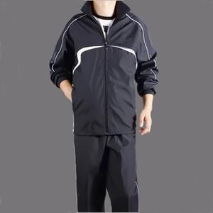 2020 Мужские Спортсетки Размер 4XL 5XL Весна Осенний трексуит Мужчины Двухкомнатная одежда Наборы одежды Случайный трек Костюм Sportswear Spirtsuits T200628