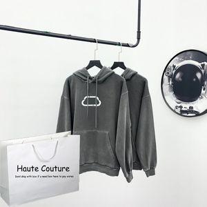 Kilit Desen Ön 2020 Yeni Kapşonlu Elbise Kız Hiphop Hoodie Streetwear ile 20FW Womens Hoodie Malzeme Yıkanmış