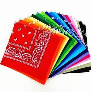 54*54CM Cotton Novelty Double Sided Bandanas Cowboy Bandana Handkerchiefs Paisley Print Head Wrap Scarf EEA1190-A