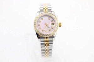 Classic Womens Fashion Watch Just 28mm Pink Shell Diamond Diams Automatico Meccanico in acciaio inox cinturino in acciaio inox zaffiro in vetro zaffiro orologi da polso