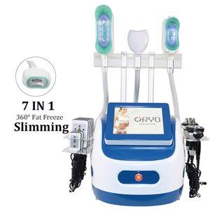 Más nuevo 360 Cryo Machine 7 en 1 Freeze Slimming Cryotherapy Machines 360 Cryolipolysis RF Cavitación Máquina de cavitación en venta
