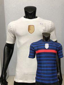 2020 2021 Version du joueur Jerseys de football Pavaro France Thaauvin Kimpembe Varane Kante Mbappe Giroud Griezmann 20 21 Jeux de Football Shirt
