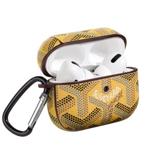 Jagkljgl VRED Fashion Waterproof Airpods Pro Fälle für Apple Airpods Pro PU-Abdeckung Mode Anti Lost Hakenverschluss Keychain für Airpod Case