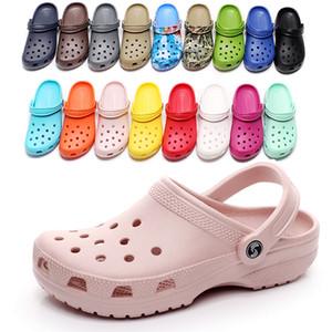 2021 fashion Slip On Casual Beach Clogs Waterproof Shoes men Classic Nursing Clogs Hospital Women Slippers Work Medical Sandals