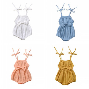 4 colori neonato Pagliaccetto Bowknot Estate tuta da estate con Big Bow Infant Girl Princess Onesies Body Ins Vestiti Nuovo 524 K2